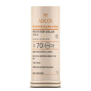 Adcos Filtro Solar Base Stick Fps 70 Incolor 12g