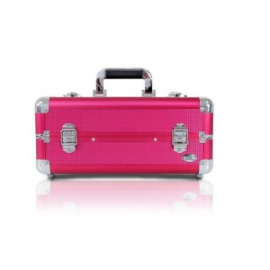 Jacki Design Maleta Profissional de Maquiagem Tam M Cor Pink