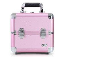 Jacki Design Maleta Profissional de Maquiagem Quad. P Cor Rosa