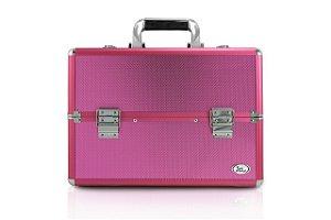 Jacki Design Maleta Profissional de Maquiagem Rosa