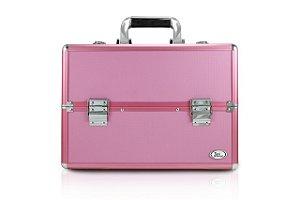 Jacki Design Maleta Profissional de Maquiagem Quad. Tam G Cor Pink