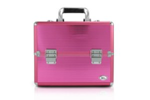 Jacki Design Maleta Profissional de Maquiagem M Cor Pink