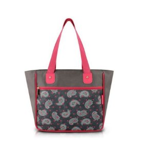 Jacki Design Bolsa Shopper Tam. G Estampa Cor Cinza e Zigzag