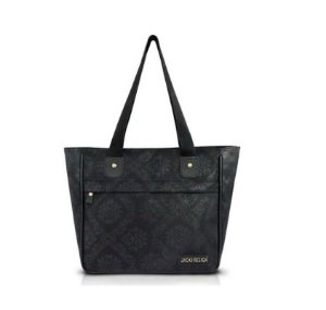 Jacki Design Bolsa Shopper Damasco Cor Preto