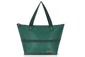 Jacki Design Bolsa Expansivel Tam. G Damasco Cor Verde