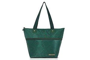 Jacki Design Bolsa Expansivel Tam. P Damasco Cor Verde