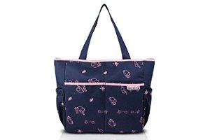 Jacki Design Bolsa de Bebê Estampada Cor Azul e Pink