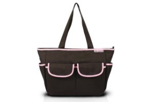 Jacki Design Bolsa de Bebê Lisa Cor Marrom e Pink