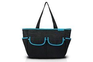 Jacki Design Bolsa de Bebê Lisa Cor Preto e Azul