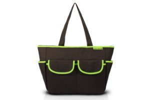 Jacki Design Bolsa de Bebê Lisa Cor Marrom e Verde