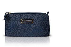 Jacki Design Necessaire de Bolsa Tam. P Onça Cor Azul Escuro
