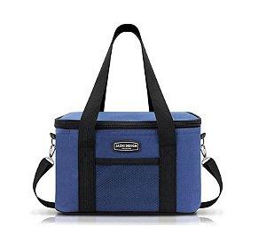 Jacki Design Bolsa Térmica Tam. G c/ Fecho Lisa Cor Azul