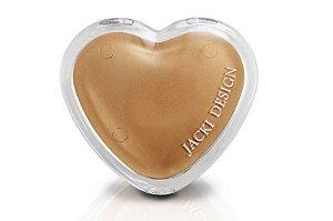Jacki Design Espelho de Bolsa Coração Cor Amarelo