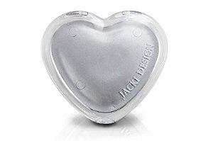 Jacki Design Espelho de Bolsa Coração Cor Prata