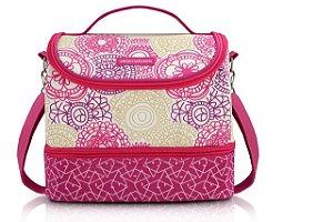 Jacki Design Bolsa Térmica c e  2 Compartimentos Cor Pink