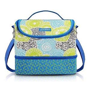 Jacki Design Bolsa Térmica Com 2 Compartimentos Cor Azul