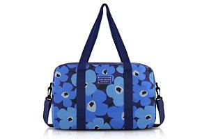 Jacki Design Bolsa de Viagem Flor Cor Azul