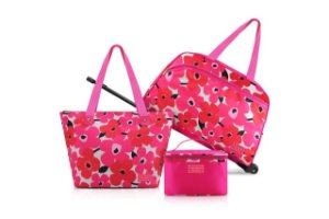 Jacki Design Conjunto de Mala e Bolsa de 3 Peças Cor Pink