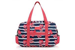 Jacki Design Bolsa de Viagem Florida Cor Azul e Pink