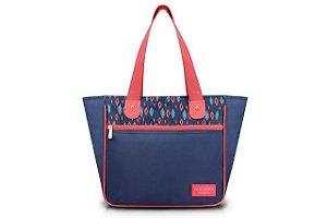Jacki Design Bolsa G Cor Azul e Rosa