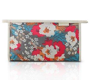 Jacki Design Necessaire Envelope Estampada Tam G Bege Floral