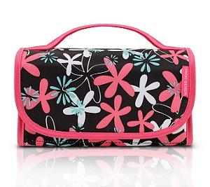 Jacki Design Necessaire Rocambole Estampada Cor Pink Floral