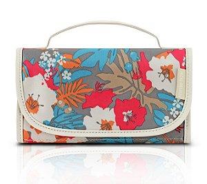 Jacki Design Necessaire Rocambole Estampada Cor Bege Floral