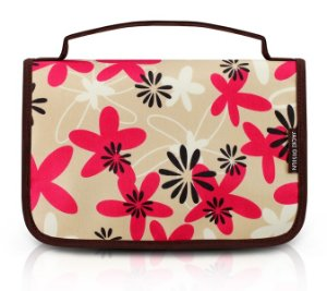 Jacki Design Necessaire De Viagem Estampada Marrom E Floral