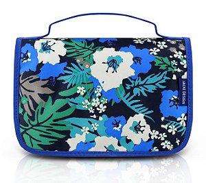 Jacki Design Necessaire de Viagem Estampada Cor Azul Floral