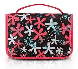 Jacki Design Necessaire de Viagem Estampada Cor Pink Floral