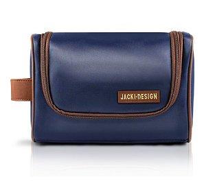 Jacki Design Necessaire Com Alça Masculina Cor Azul E Marrom