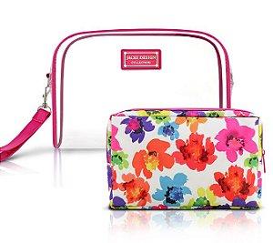 Jacki Design Kit De Necessaire De 2 Peças Cor Pink
