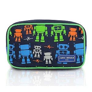 Jacki Design Necessaire E Estojo Robô Cor Azul E Verde