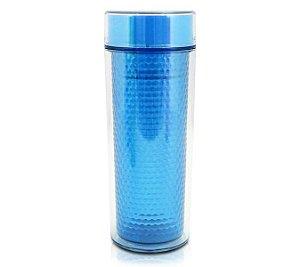 Jacki Design Copo Isotérmica Com Tampa Cor Azul 430ml