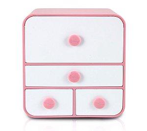Jacki Design Caixa Organizadora Com 4 Gavetas Tam G Cor Rosa