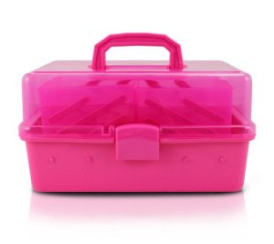 Jacki Design Caixa Organizadora Transparente Pink