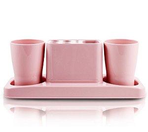 Jacki Design Kit De Banheiro De 4 Peças Cor Rosa