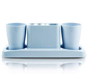 Jacki Design Kit De Banheiro De 4 Peças Cor Azul