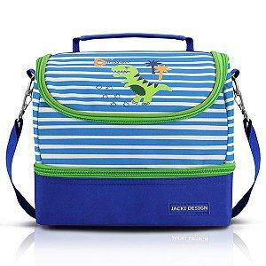 Jacki Design Lancheira Térmica Little Dinossaur Cor Azul
