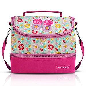 Jacki Design Lancheira Térmica Borboleta Pink