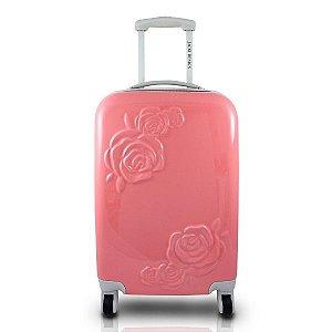 Jacki Design Mala de Viagem com Flor com Relevo Cor Salmão