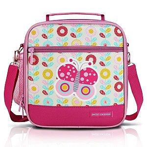 Jacki Design Lancheira Térmica Borboleta Cor Pink