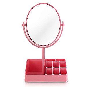 Jacki Design Espelho De Mesa Com Divisórias Cor Rosa