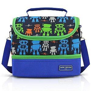 Jacki Design Lancheira Térmica 2 Compartimentos Robô Azul