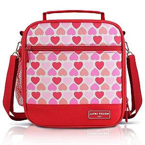 Jacki Design Lancheira Térmica Coração Cor Vermelho