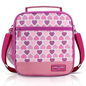 Jacki Design Lancheira Térmica Coração Cor Rosa