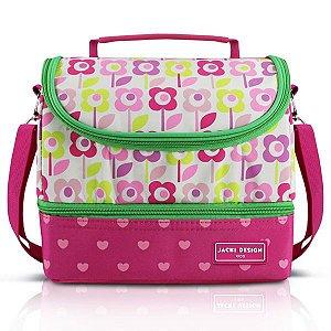 Jacki Design Lancheira Térmica 2 Compart Flor Pink Cor Pink