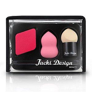 Jacki Design Kit Trio De Esponjas Cor Vermelho