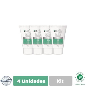 Soffie Kit com 4 Clinical Desodorante Antitraspirante 60g