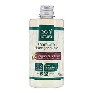 Boni Natural Shampoo Argan e Linhaça 500ml